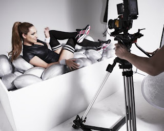 Kelly Brook Photoshoot, Kelly Brook Reebok Ad Photoshoot