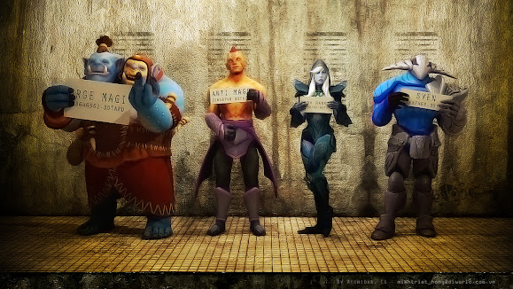 dota 2 hero smugshot ogre magi anti mage magina drow ranger traxex rogue knight sven
