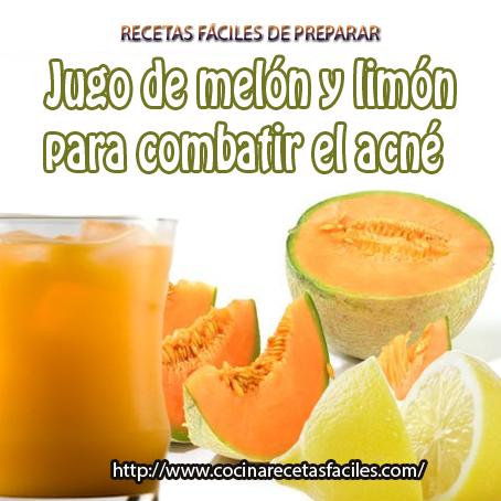 melón,azúcar,limón,agua