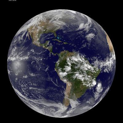 Imagen Satelital Continente Americano