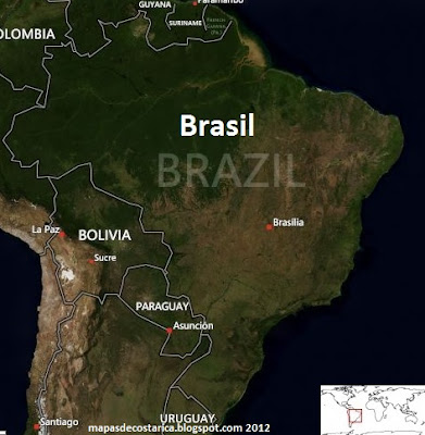 Mapa de Brasil , vista area de BING
