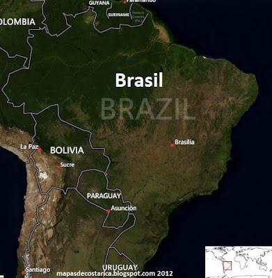 Mapa de Brasil , vista aérea de BING