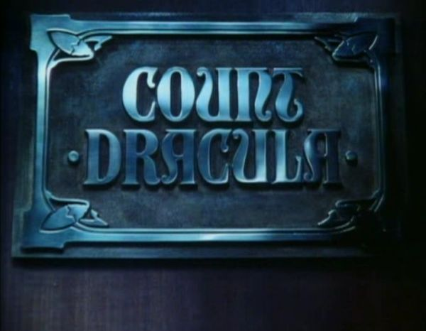 Count Dracula 1977 title screen