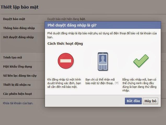 Bảo vệ tài khoản Facebook với xác thực 2 yếu tố