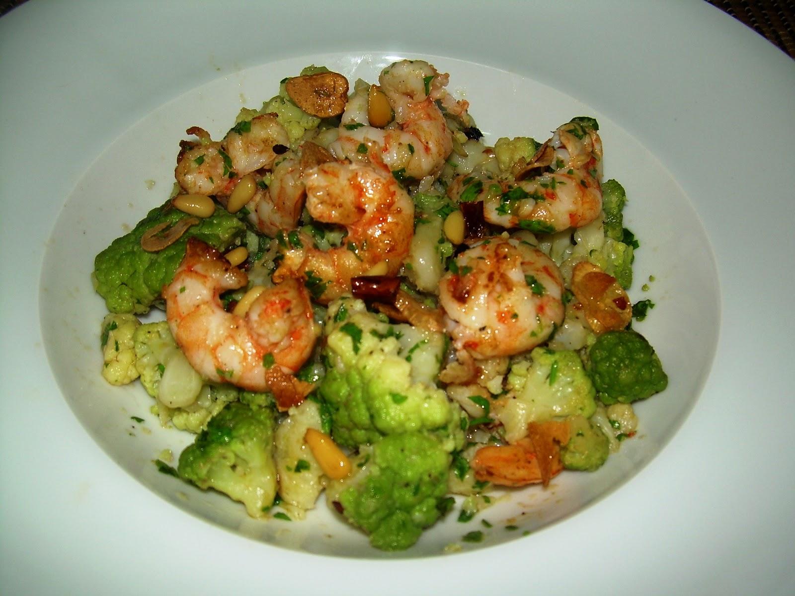 Gastronomic n coliflor brocoli con langostinos for Maneras de cocinar brocoli