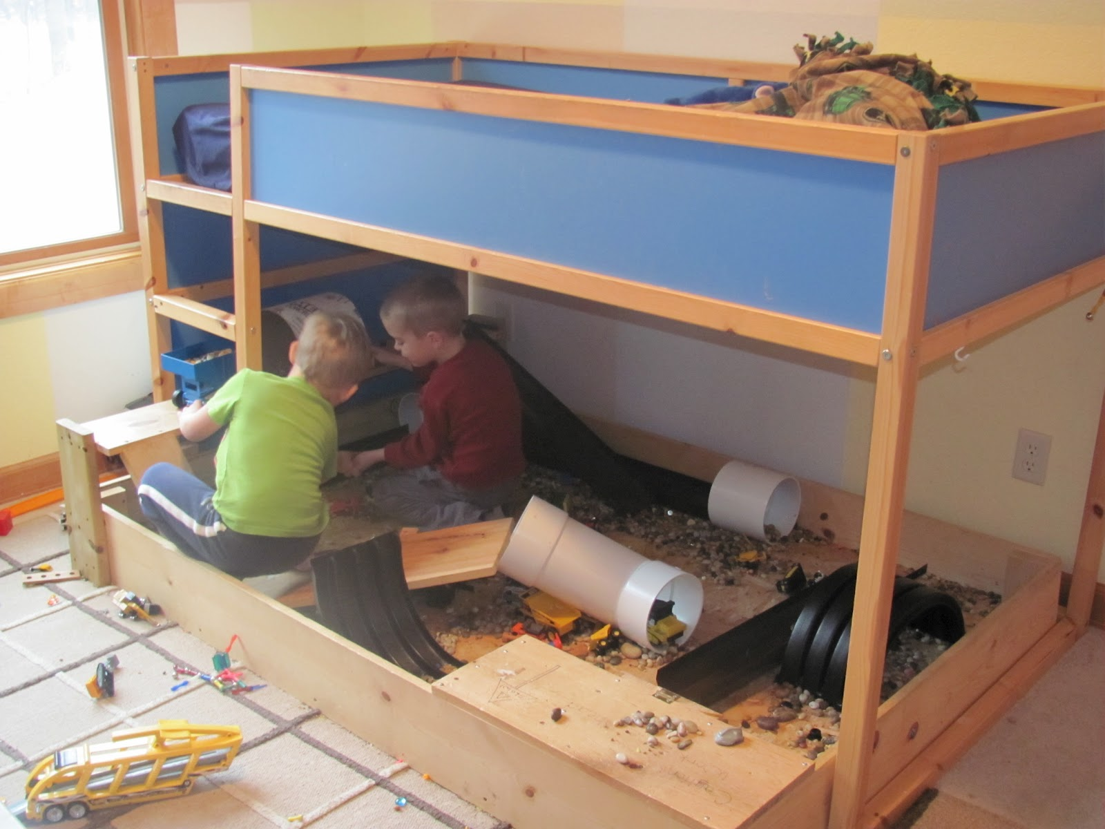 Boys Play Bed Home Safe