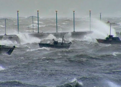 Tifón Bolaven golpea Corea del norte, 03 de Septiembre 2012