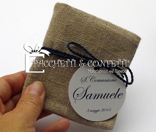 Pacchetti e confetti bomboniera comunione con semi di for Semi di fiori