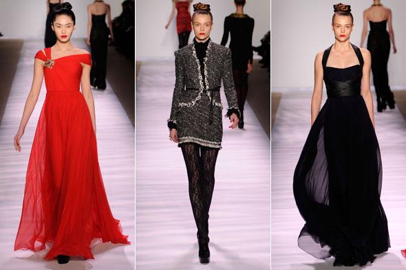 Monique Lhuillier Evening Dresses Show