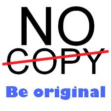 Be original, please !