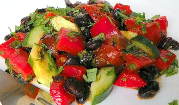 Are You Cooking?: Black Bean Gazpacho Salad