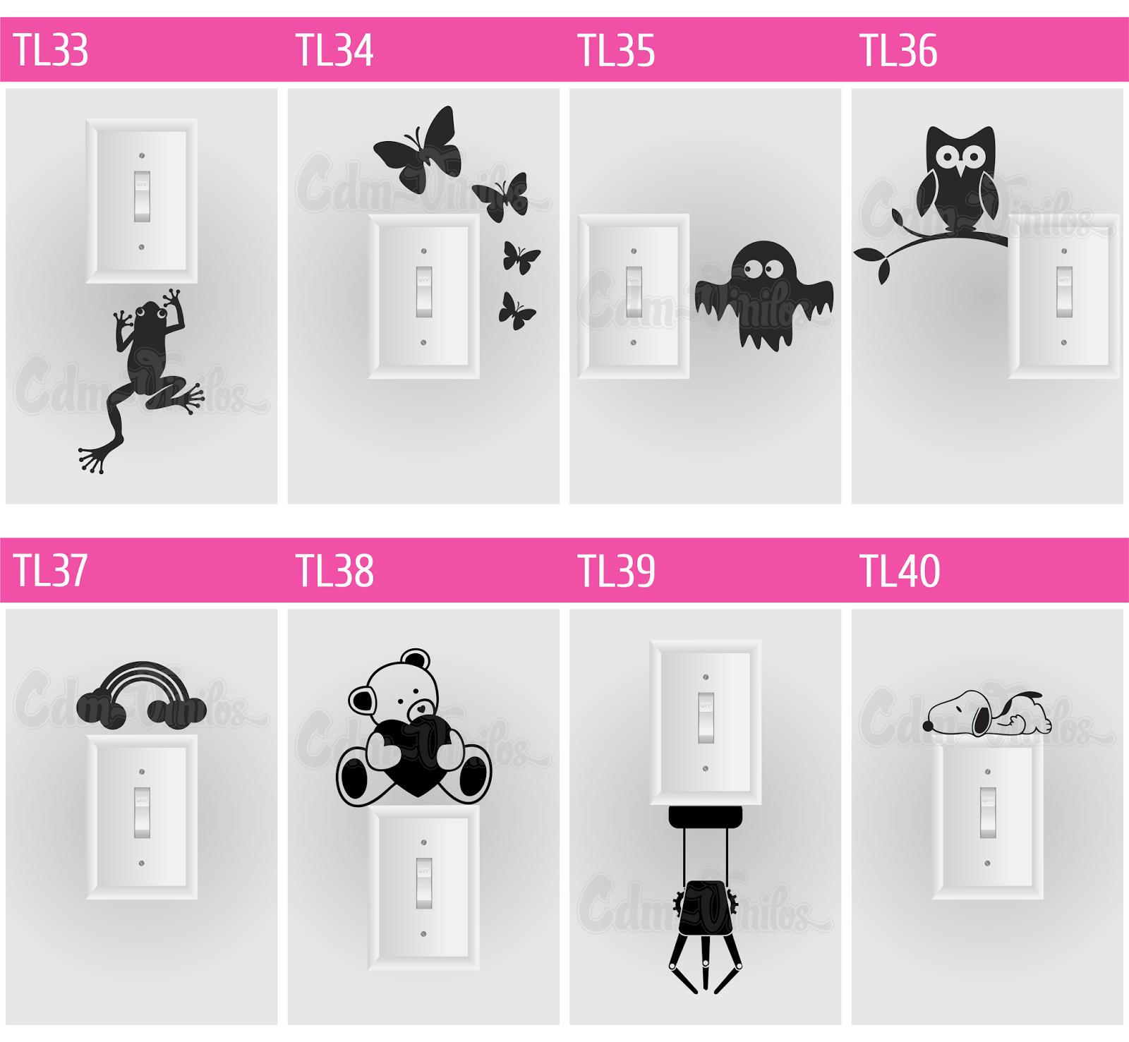Vinilos decorativos para pared llave tecla de luz cdm for Vinilos de pared personalizados