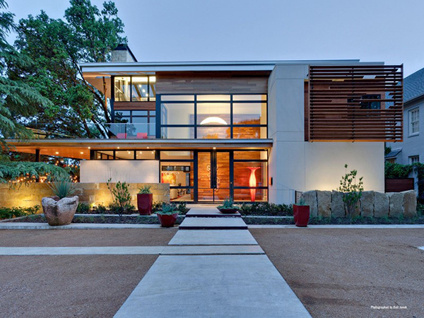 Modern sustainable home Dallas Texas Most beautiful houses in