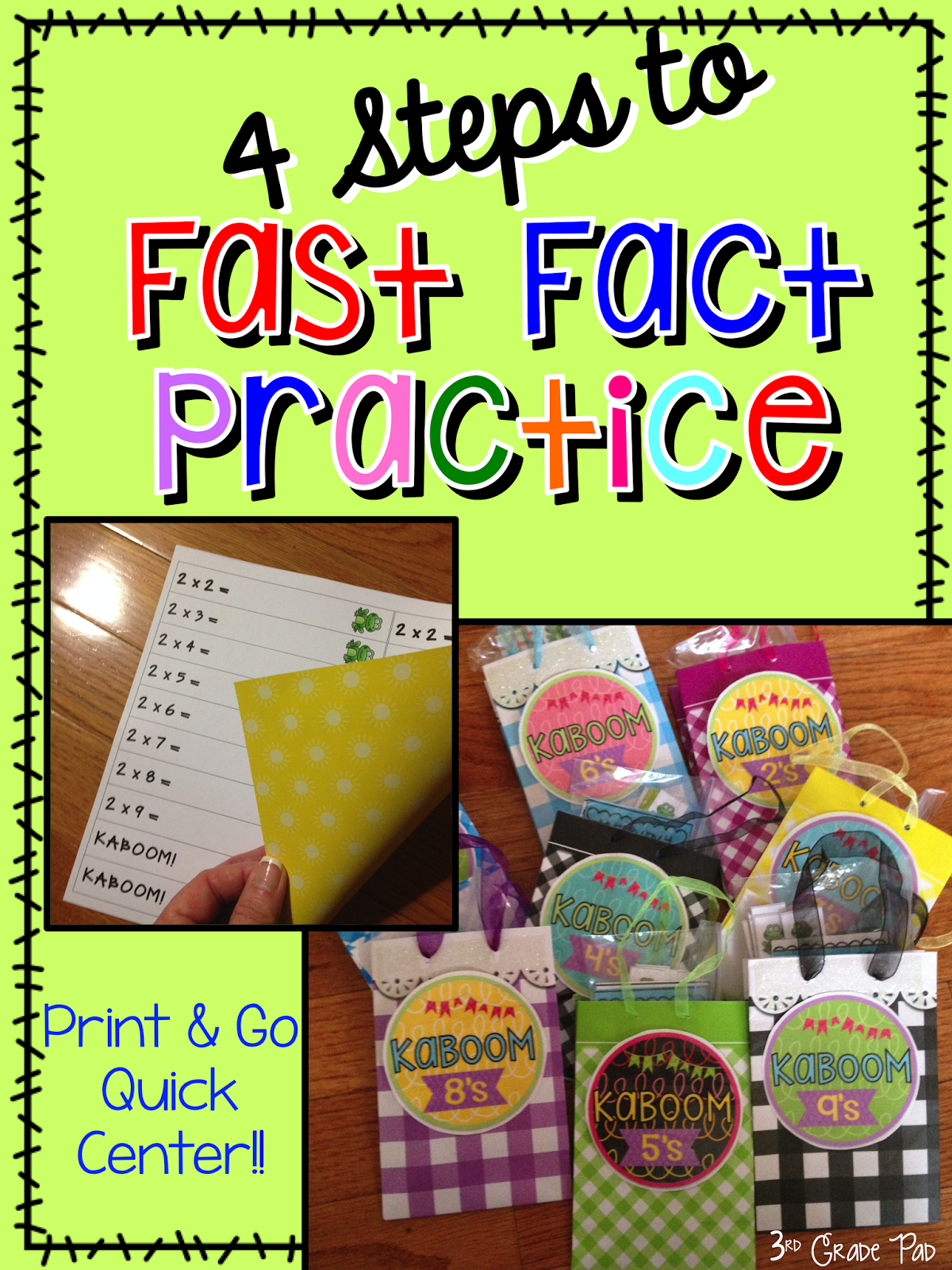 Multiplication Fluency Game: Kaboom! - 3rd Grade Pad