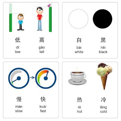 chinese antonyms