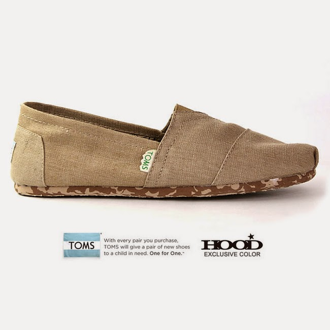 TOMS HOOD EXCRUSIVE<br>Earthwise Classics Sand.