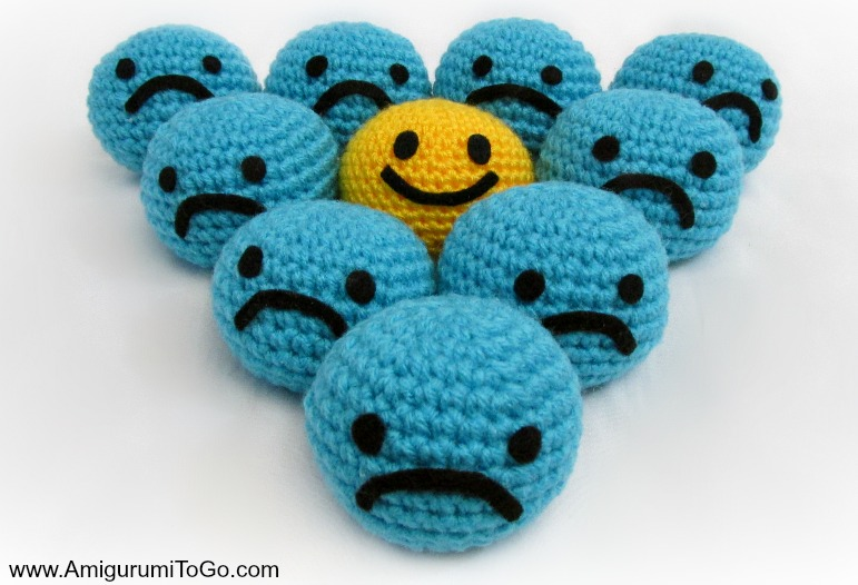 Crochet Amigurumi Smiley Faces : Oh So Happy Smiley With Video ~ Amigurumi To Go