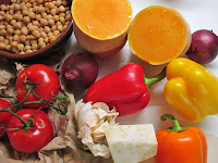 Pumpkin, Chickpea and Roast Pepper Stew - Ingredients