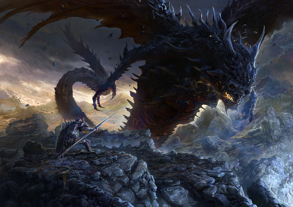 A Dragons Lair  Images Gallery Dragon Demon Wyrm Vs