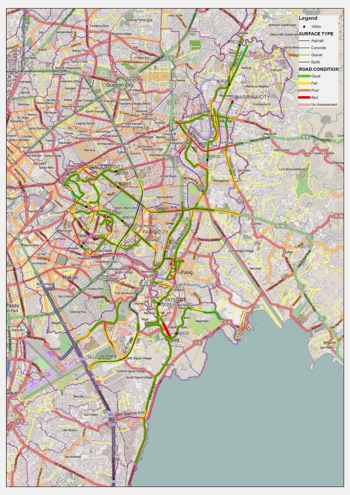 map of SE metro manila