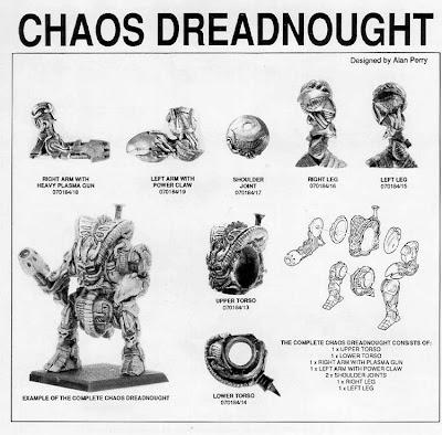 Despiece del Dreadnought del Caos