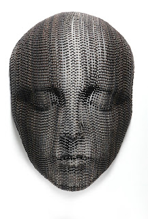 Giant Bicycle Chain Sculptures of Meditating Faces Seen On www.coolpicturegallery.us