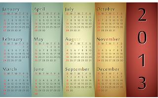 新年のカレンダー テンプレート 2013 new year calendar templates イラスト素材3