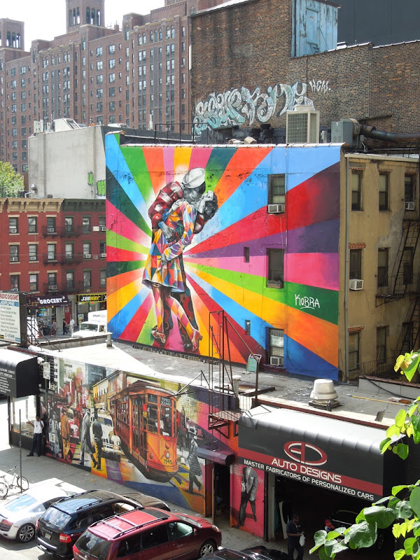 VJ Day tribute Kobra mural Chelsea NYC