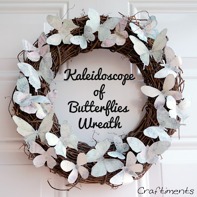 Craftiments:  Kaleidoscope of Butterflies Wreath