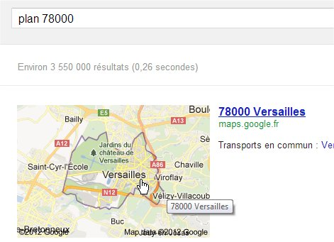 capture d'écran Google