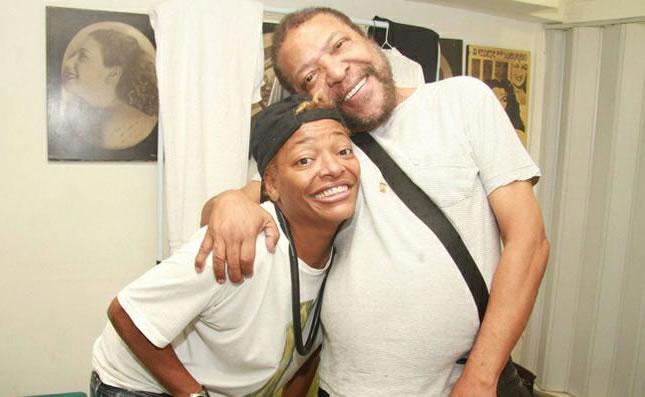 Mart'nália e seu pai, Martinho da Vila (Foto: Raphael Mesquita/FotoRioNews)