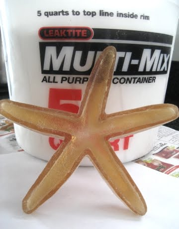 how to cast plaster starfish with rubber mold