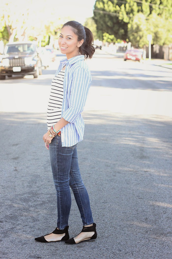 how to wear stripes on stripes