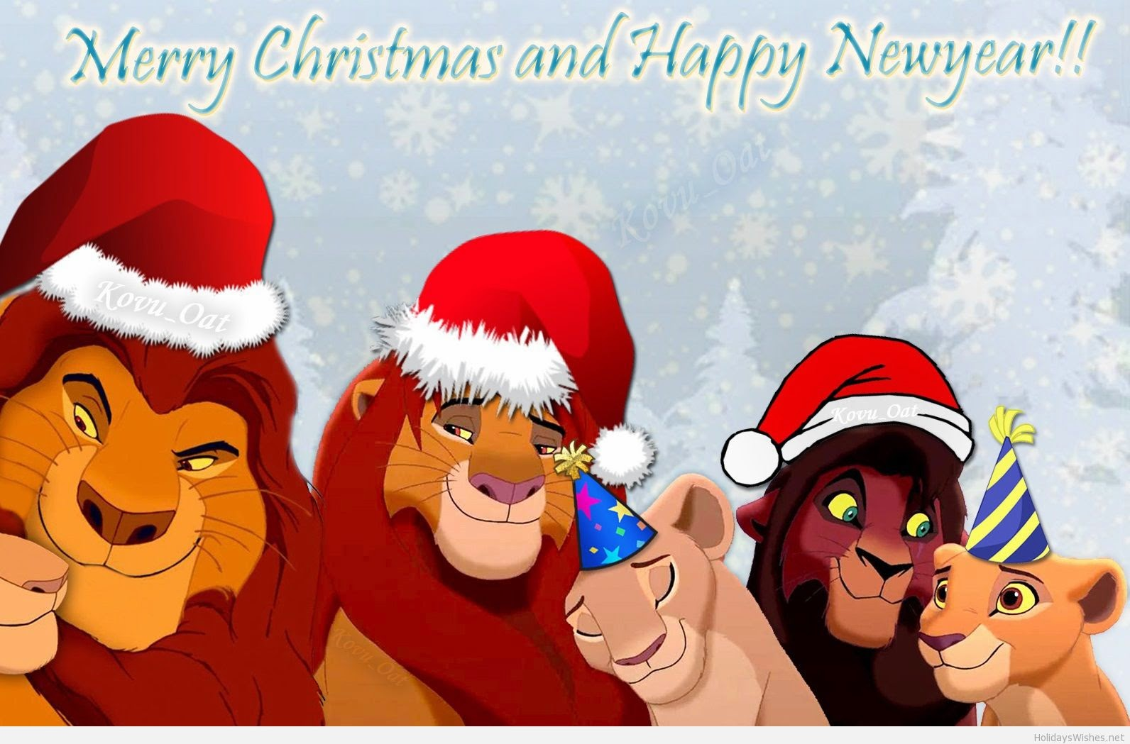New year Lion And King wallpaper for kids