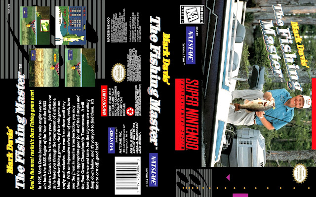 Capa Mark Davis The Fishing Master Super Nintendo