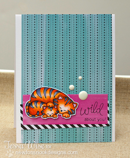 Tiger Card by Tessa Wise using Wild Child Stamp set by Newton's Nook Designs