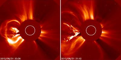 Llamarada solar clase M, 31 de Agosto 2012