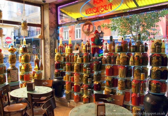 coffee inside a pickle shop?