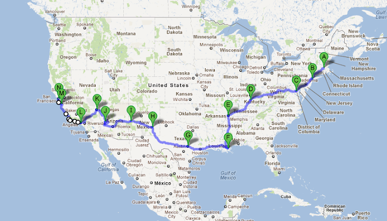 Our route: