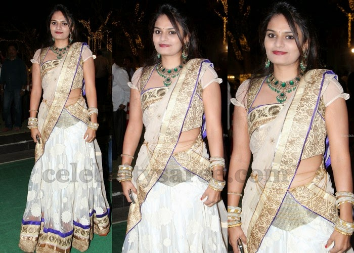 Pretty Lady White Half Saree