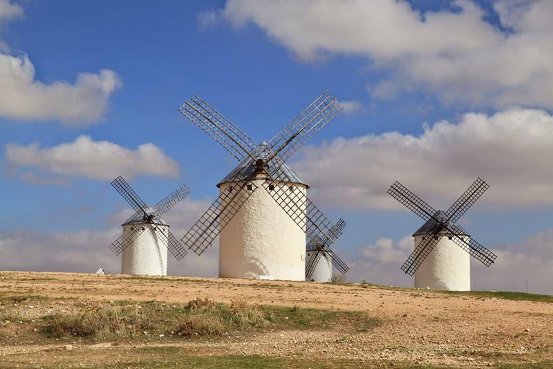 Windmills Toledo, Spain.