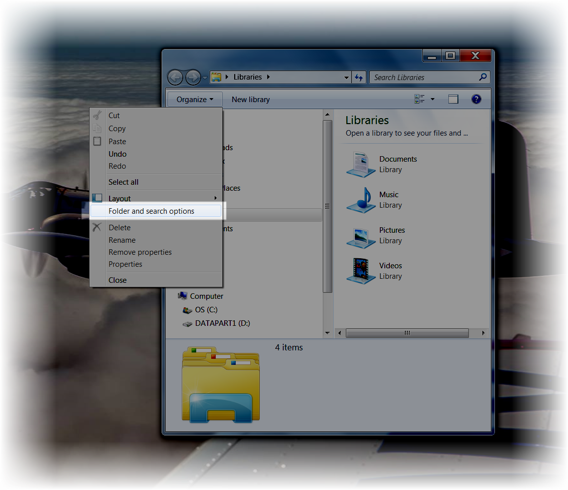 how to stop file explorer from showing hidden files