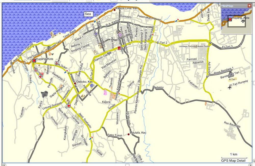 Peta Kota: Peta Kota Kupang