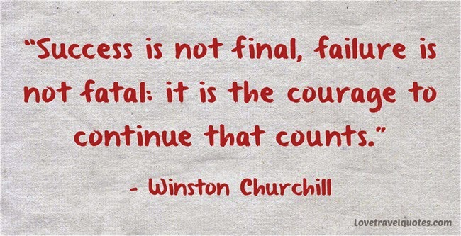 success is not final failure is not fatal