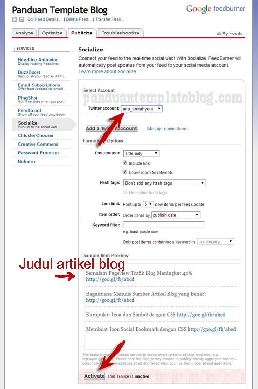 Cara Membuat Feeds Blog di Feedburner