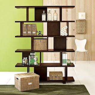 contoh gambar rak buku lemari buku untuk ruangan sempit dan minimalis
