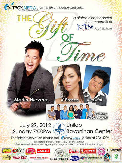 Martin Nievera, Kaye Brosas and Kim Idol The Gift of Time Dinner