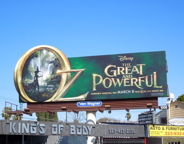 Oz The Great Powerful movie billboard