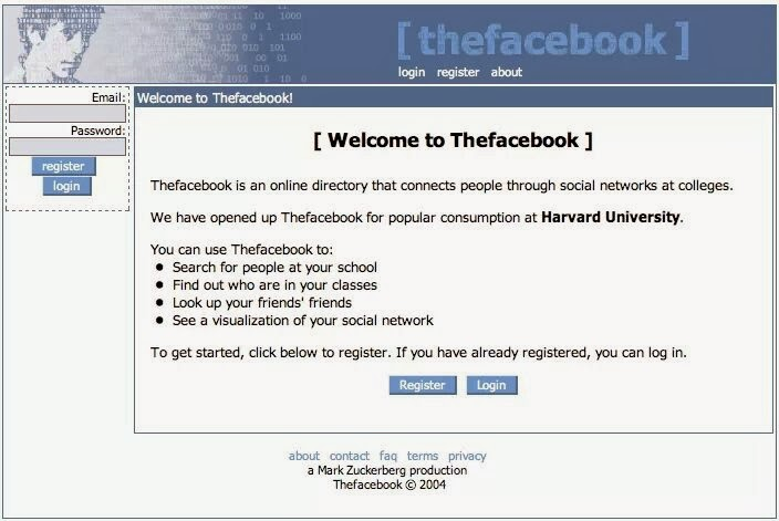 The Facebook - Mark Zuckerberg - Original Screenshot