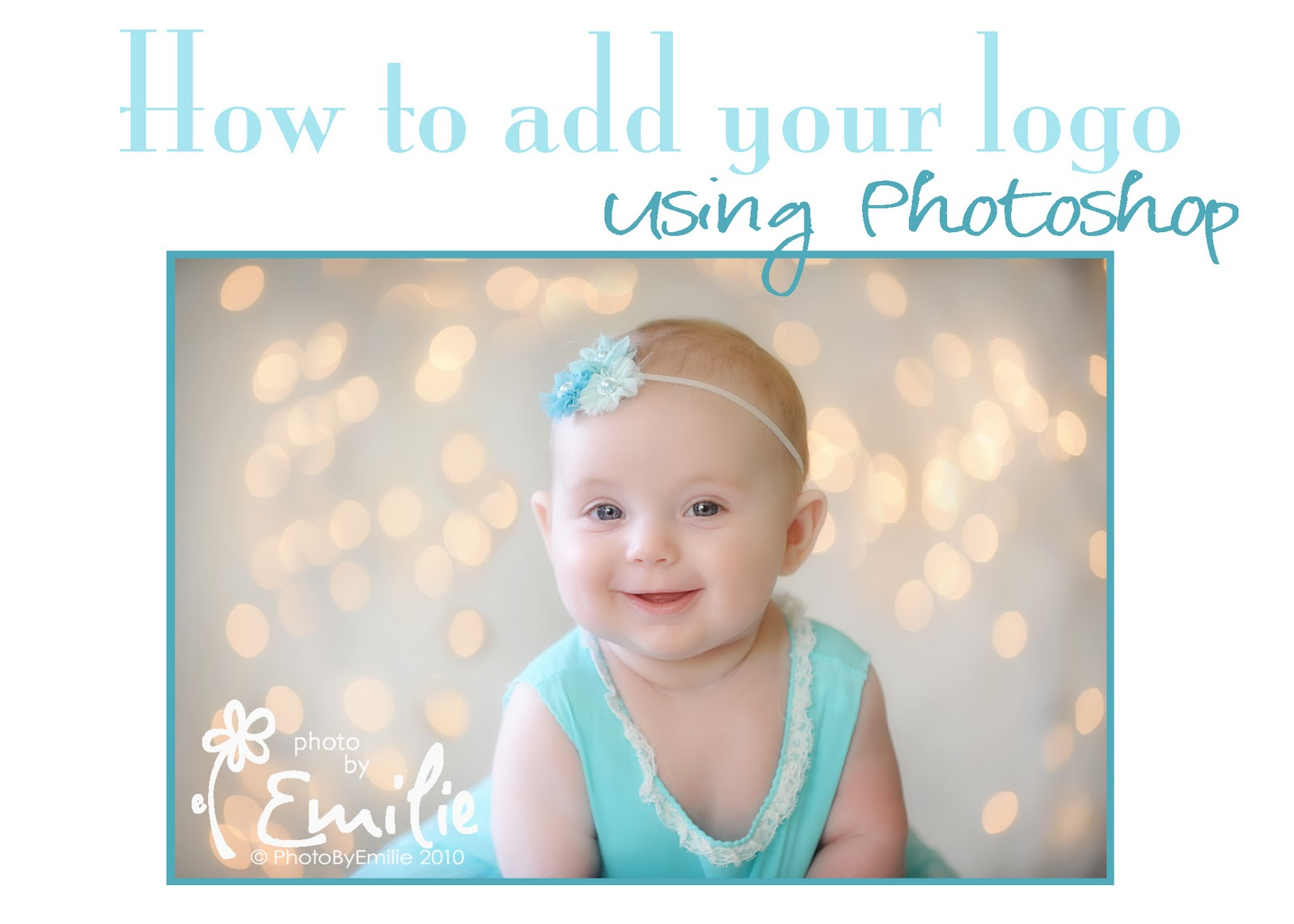How to Edit an Image with Photoshop, Add a Logo and Text ...